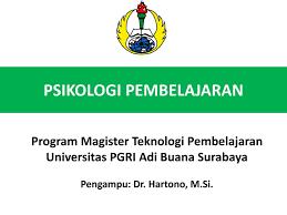 Psikologi Pembelajaran S2 (TP 2020 Kls A)