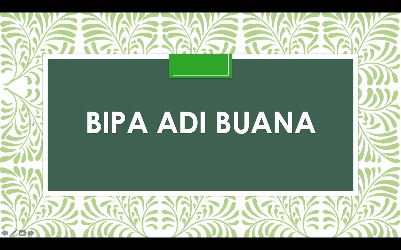 Bahasa Indonesia bagi Penutur Asing A - 2018