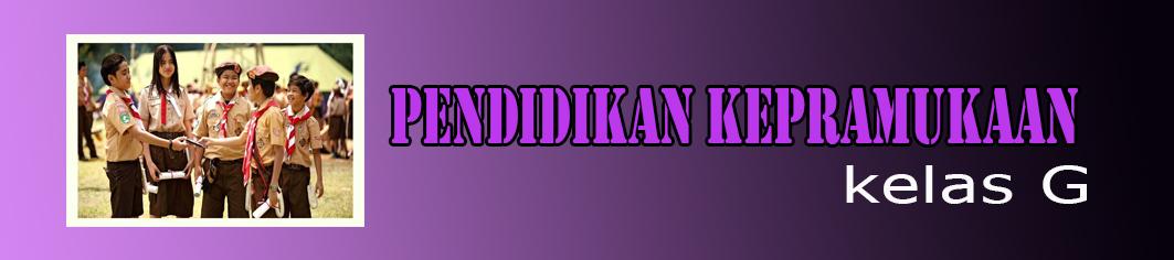 2018 - G - PENDIDIKAN KEPRAMUKAAN