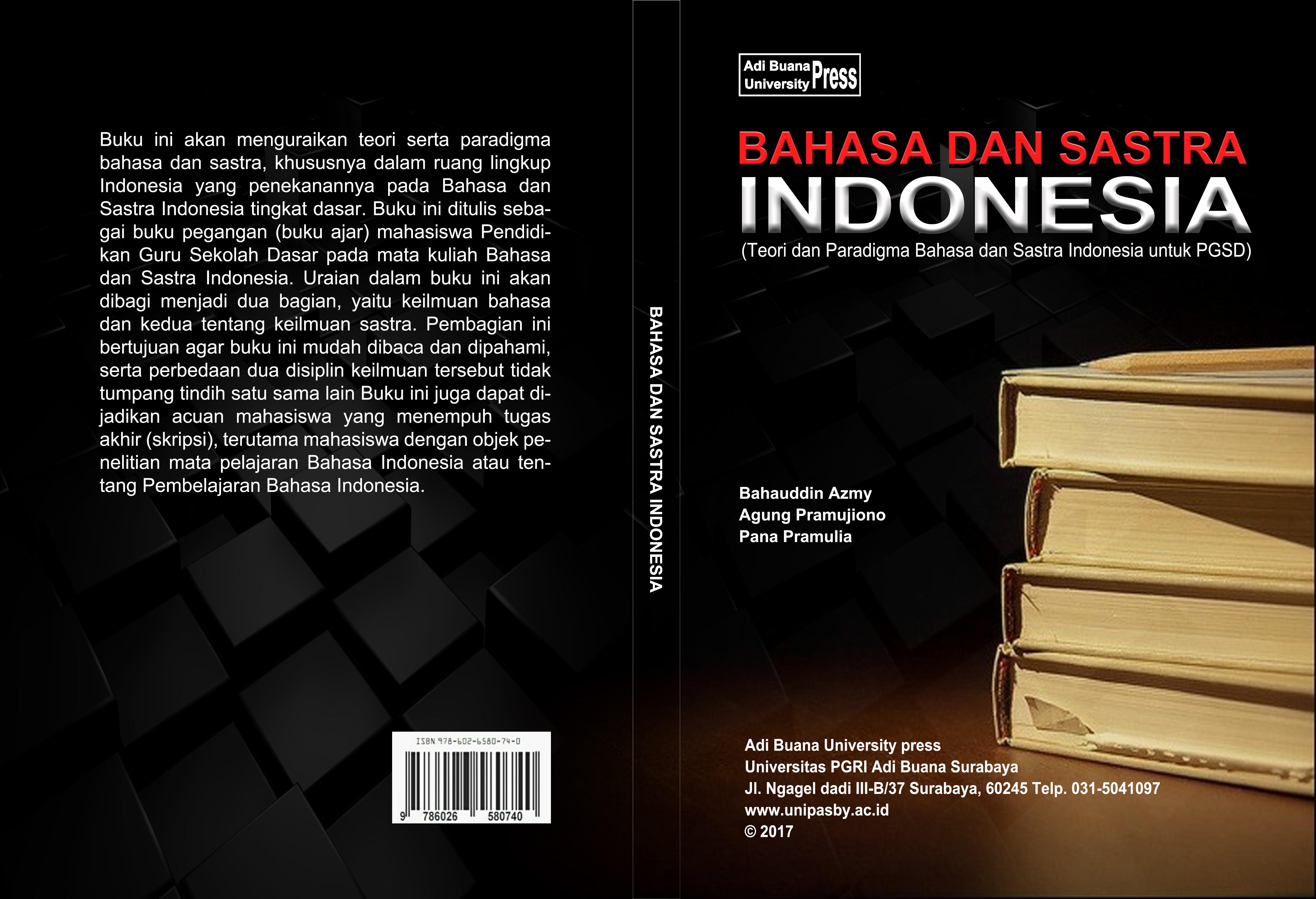 Bahasa dan Sastra Indonesia Kelas G