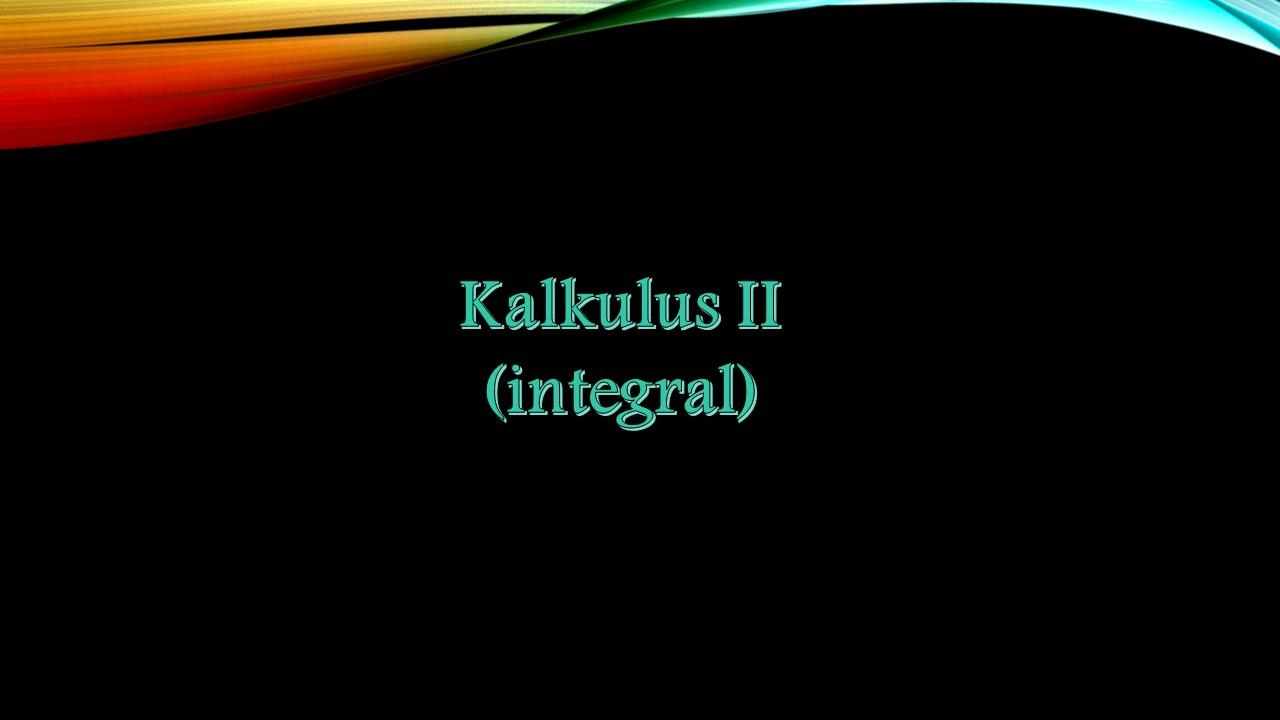 KALKULUS II 2019 C
