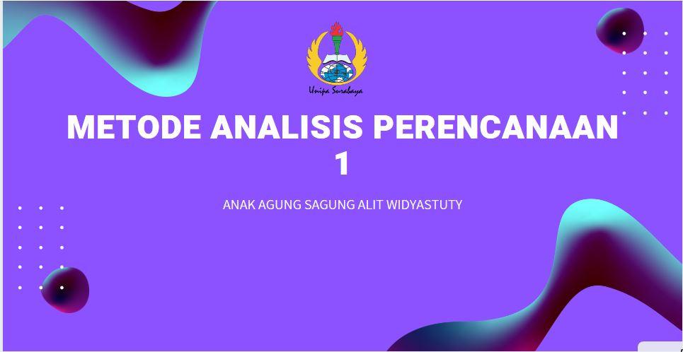 Metode Analisis Perencanaan 1
