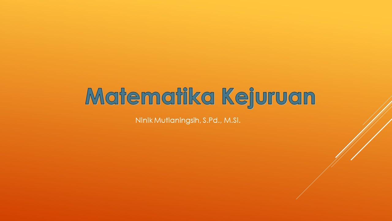 MATEMATIKA KEJURUAN 2019_B
